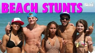 getlinkyoutube.com-Beach Stunts | Gabi Butler Cheer