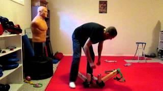 getlinkyoutube.com-home made leg stretcher