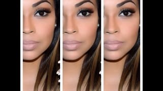 getlinkyoutube.com-Full Face Nude Makeup Look