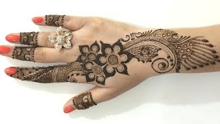 getlinkyoutube.com-Best Ornament Unique Arabic Henna Mehndi:Stylist Mehendi Designs For Hands(Step By MehndiArtistica)