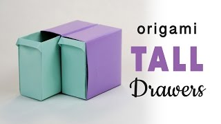 getlinkyoutube.com-Tall Origami Pull-Out Drawers Tutorial ♥︎ DIY ♥︎ Paper Kawaii