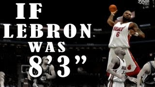getlinkyoutube.com-IF Lebron Was 8+ Feet Tall 2K 2K13 - Spurs vs Heat