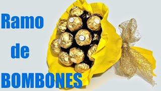 getlinkyoutube.com-Cómo hacer un ramo de bombones Ferrero Rocher