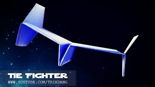 Best Paper Planes - How to make a paper airplane that Flies | STAR WARS Tie Fighter