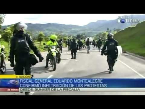 Fiscal General confirma infiltraciones de la guerrilla en paro agrario