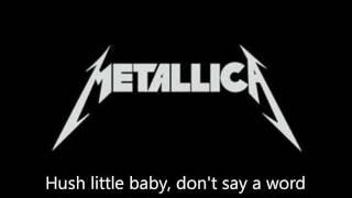 """Metallica - """"Enter Sandman"""" Lyrics (HD)"""