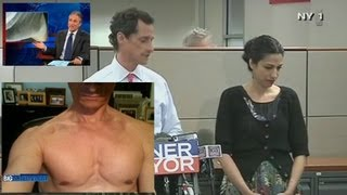 getlinkyoutube.com-Anthony Weiner & His Wife Huma Abedin Awkward Press Conference:  Breaking Down the Body Language