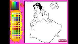 getlinkyoutube.com-Disney Princess Snow White Coloring Pages - Coloring Pages For Girls
