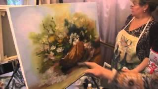 """Видеоурок Сахарова """"Как научиться рисовать цветы, ромашки"""" живопись для начинающих, уроки рисования"""
