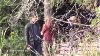 getlinkyoutube.com-October 14th, 2014 - Jamie and Dakota filming Scenes for Fifty Shades of Grey (Kissing Scene)