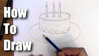 getlinkyoutube.com-How To Draw a Birthday Cake