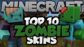 getlinkyoutube.com-Top 10 Minecraft Zombie SKINS! - Best Minecraft Skins