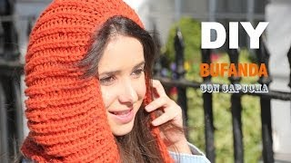 getlinkyoutube.com-DIY Cómo hacer bufanda con capucha