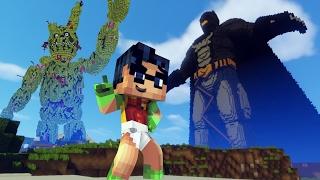 getlinkyoutube.com-GIANT SPRINGTRAP FIGHT GIGA BATMAN! FNAF vs Superheroes | Minecraft Five Nights at Freddy's:
