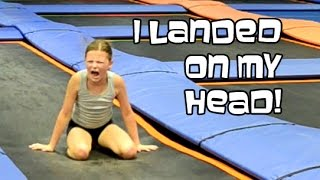 getlinkyoutube.com-Trampoline Park Back Handsprings | Gymnastics With Bethany G