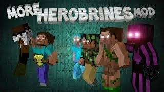 getlinkyoutube.com-Minecraft: MORE HEROBRINES MOD! (Enderbrine, Burritobrine, 22 new mobs)
