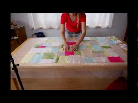 Nuno felted quilt tutorial