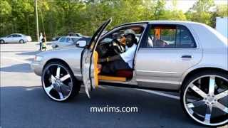 "getlinkyoutube.com-GRAND MARQUIS CROWN VIC ON 30"" RIMS STUNTFEST UNION SOUTH CAROLINA 2013 UNION DRAGWAY"