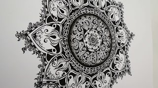 getlinkyoutube.com-Zentangle Inspired Art #3