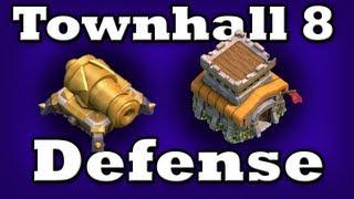 getlinkyoutube.com-Clash of Clans - Town hall Level 8 Defense!