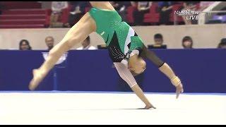 getlinkyoutube.com-笹田夏実 Natsumi Sasada 2015 Japan 女子 体操 床 Women's floor exercises