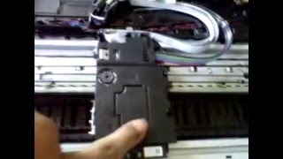 getlinkyoutube.com-Brother Printer MFC J430 DW  how to Replace Head Unit