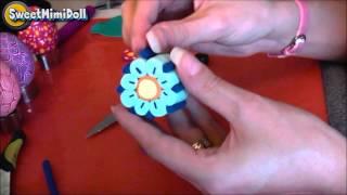 getlinkyoutube.com-Polymer Clay Flower Cane Tutorial
