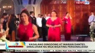 BT: Kasalang Dingdong at Marian Dantes, dinaluhan ng mga bigating personalidad