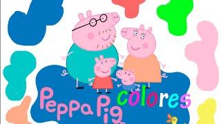 getlinkyoutube.com-Aprendiendo los colores con Peppa Pig en español - video educativo para niños