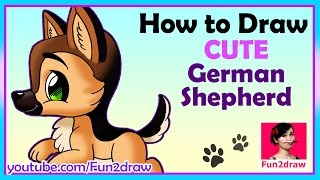 getlinkyoutube.com-How to draw a dog | Draw Easy, Draw Cute!
