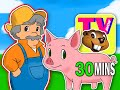 "BBTV S1 E5 ""Old MacDonald Had a Farm"" | Busy Beavers TV Show | Nursery Rhyme, Kids Learning Video"