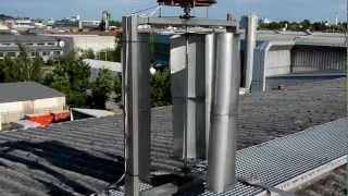 getlinkyoutube.com-Vertikales Windrad (VAWT) C-Rotor - vertikal axis wind turbine 0,5 - 1 kw (2) www.starkwind.net
