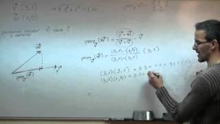 Imagen en miniatura para Proyección vectorial y escalar de un vector sobre otro