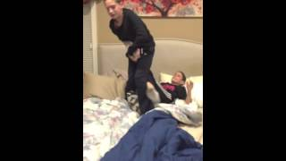 "getlinkyoutube.com-""WWE"" wrestling on the bed"