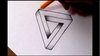 getlinkyoutube.com-How To Draw The Impossible Triangle - Optical Illusion