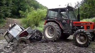 getlinkyoutube.com-Traktor crash compilation 2015 , tractor stuck 2015