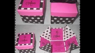 getlinkyoutube.com-como fazer caixinha de papel como convite