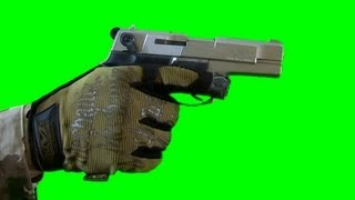 Gun green screen - real Battlefield green screen footage