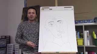 getlinkyoutube.com-Pablo Picasso drawing for kids 1 with Ramon Carrasco