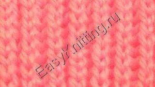 getlinkyoutube.com-Узоры спицами - Английская резинка