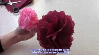 getlinkyoutube.com-Как сделать розу из салфетки за 1 мин? Видео