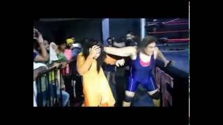 getlinkyoutube.com-Wrestling girls take revenge from punjabi girl