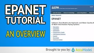 EPANET Tutorial 01 -  Overview of EPANET | Hydraulic Modeling