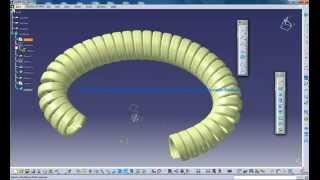 getlinkyoutube.com-Catia V5 Tutorials|Product Design|Generative & Shape Design|How to create a Telephone Wire|Part 1