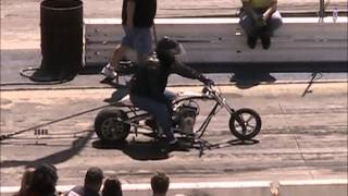 getlinkyoutube.com-Mini Bike Drag Racing Barona Drag Strip 3-23-2013