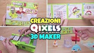 getlinkyoutube.com-CREAZIONI CON QIXELS 3D MAKER: proviamo i CUBI Acqua Attacca