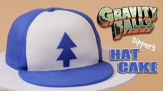 getlinkyoutube.com-GRAVITY FALLS DIPPER'S HAT CAKE - NERDY NUMMIES
