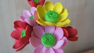 getlinkyoutube.com-Цветы из фоамирана мастер класс для начинающих - Хризантемы
