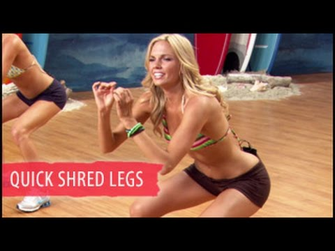 Quick Shred Legs & Glutes Workout: 5 Mins- Surfer Girl