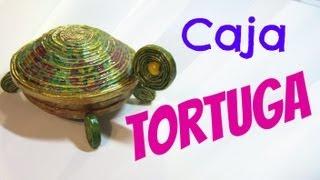 getlinkyoutube.com-Cajas tortuga hechas con papel periódico. Box turtle.